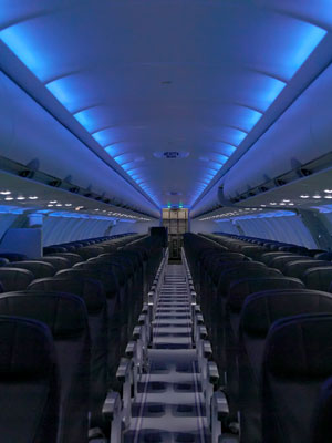 New JetBlue interior