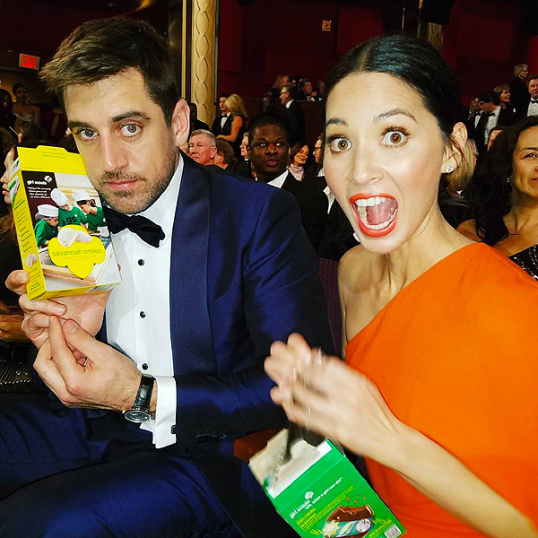 Oscars Girl Scout Cookies Olivia Munn