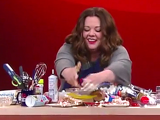 Melissa McCarthy and Stephen Colbert Spoofing Chopped Is Both Hilarious and Disgusting
