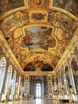 Versailles, FRANCE: View of the restored painting