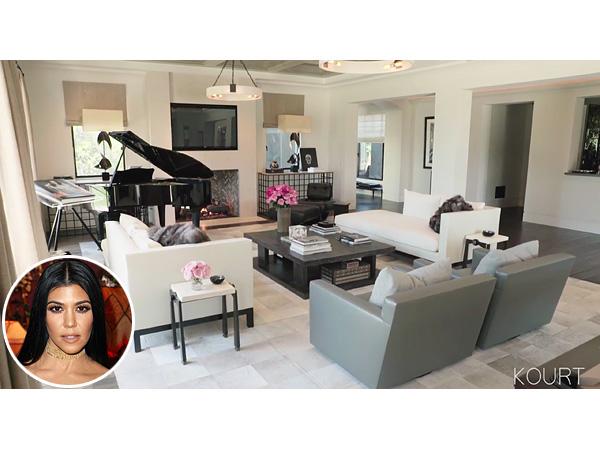 Kourtney kardashian take a peak inside her living and for Khloe k living room