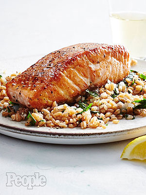 Hugh Acheson's Salmon with Parsley Farro