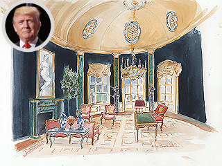 How Five Designers Would Redecorate the White House for President Clinton or President Trump