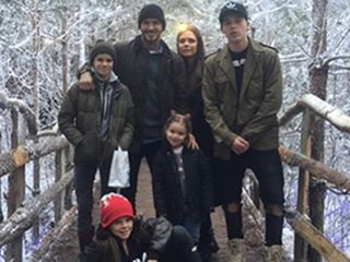 Merry Christmas From the Beckhams! Victoria Wishes Fans Happy Holidays with Sweet Family Photo