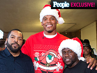 It's Santa Cam! Panthers Quarterback Cam Newton Dresses Up to Spread Christmas Cheer to Underprivileged Kids