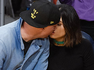 Date Night: Channing Tatum and Wife Jenna Dewan-Tatum Get Affectionate as They Cheer on the Los Angeles Lakers