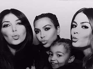 Kim Kardashian West Makes Her First Post-Birth Appearance for Kris' Christmas Eve Bash