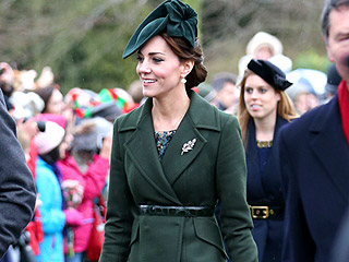 Princess Kate Is Radiant in Festive Green as She Walks to Christmas Day Church Service with the Royal Family