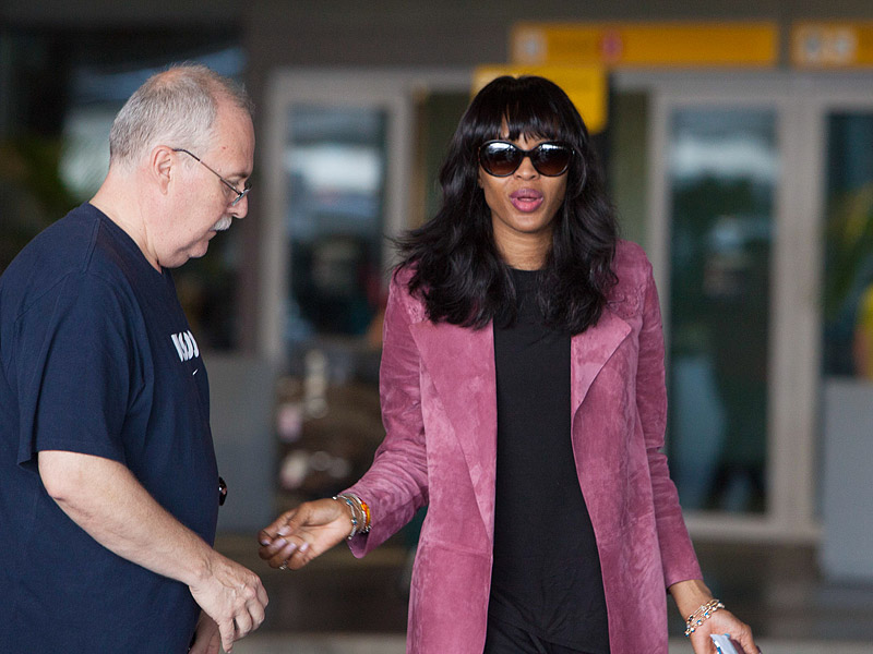 Naomi Campbell Spotted in a Wheelchair After Injuring Her Foot