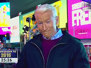 Kathy Griffin Continues to Poke Fun at Anderson Cooper on New Year's Eve – by Spray-Painting His Face!