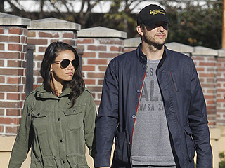 Mila Kunis and Ashton Kutcher Hold Hands as They Take Sweet Afternoon Stroll Around New Orleans