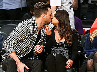 Lea Michele and Matthew Paetz Can't Keep Their Hands to Themselves at Lakers Game