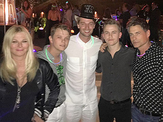 Patrick Schwarzenegger Posts Festive New Year's Eve Shot with Rob Lowe and Family