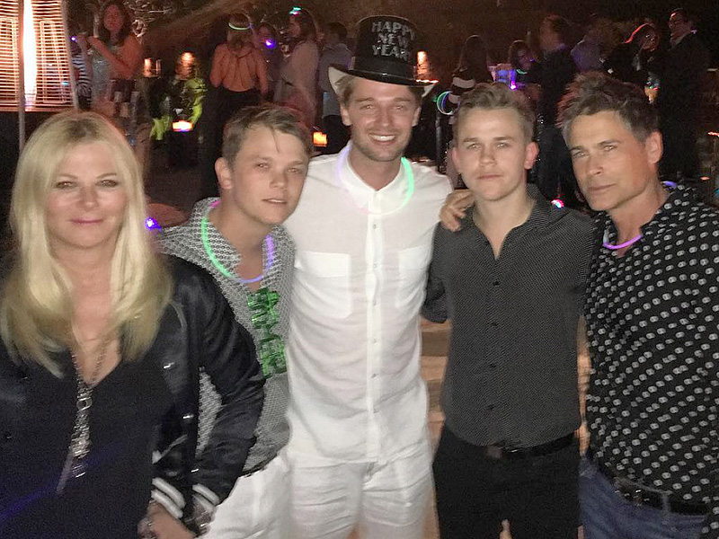 Patrick Schwarzenegger Celebrated New Year's Eve with Rob ...