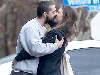 Shia LaBeouf and Mia Goth Share a Smooch in Los Angeles After Tumultuous 2015