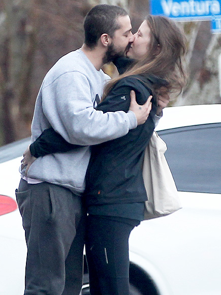 Shia LaBeouf and Mia Goth Share a Smooch in Los Angeles After ...
