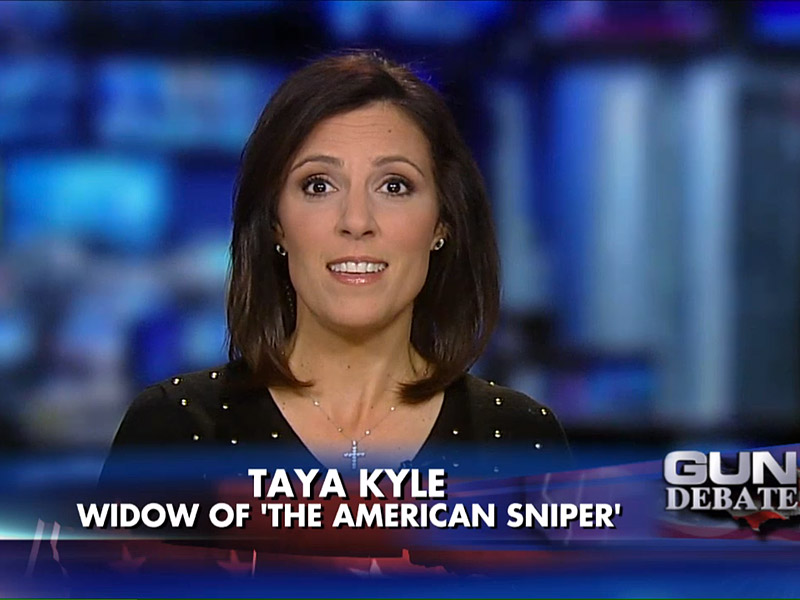 Taya kyle s statements came just one day after she confronted obama at