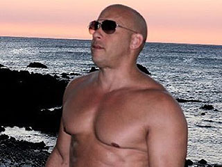 Vin Diesel Shows off His Rock Hard 'Dad Bod' In New Shirtless Beach Photo