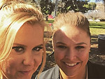 Amy Schumer Hangs with Ronda Rousey, Jokingly Tells Off Colin Quinn Following Golden Globe Loss to Pal Jennifer Lawrence