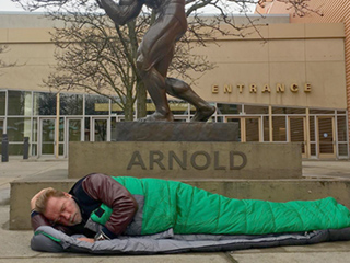 Arnold Schwarzenegger Posts Funny Photo of Himself ... Next to a Statue of Himself
