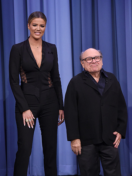 Khloe Kardashian Towers Over Danny DeVito During Tonight Show Charades