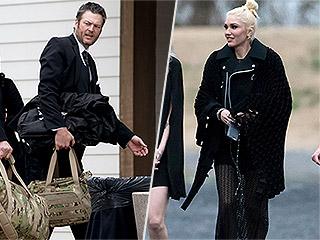Blake Shelton and Gwen Stefani Cuddle Up in Cozy Wedding Photo Booth Snaps