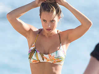 Derek Jeter's Fiancée Hannah Davis Looks Fit and Ready to Surf in New Bikini Photoshoot