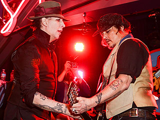 Shred It, Johnny! Depp Rocks Out with Marilyn Manson at Star-Studded Stella McCartney Launch Party