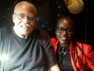 Maz Kanata Meets Darth Vader! Lupita Nyong'o Posts Photo with 'Trailblazer' James Earl Jones
