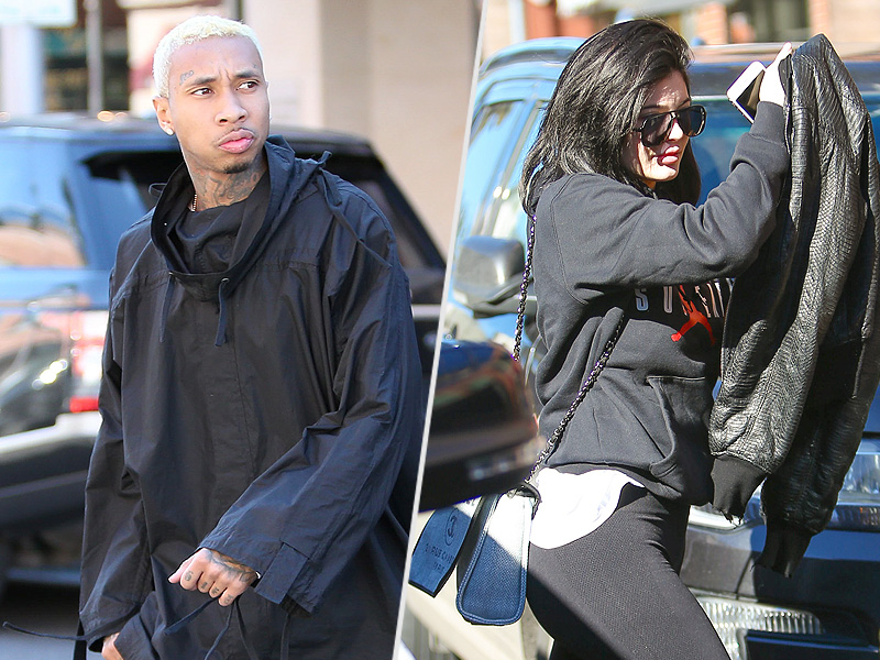 Kylie Jenner and Tyga Step Out After Source Says 'They Have Been Fighting'| Couples, Music News, TV News, Kylie Jenner, Tyga