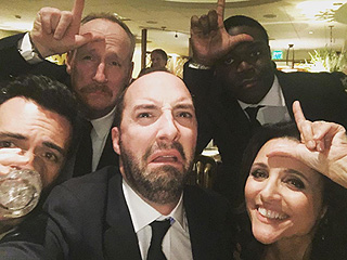 Julia Louis-Dreyfus and Her Veep Costars Show Their Best Losing Faces After Getting Shut Out at the Globes
