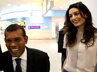 Amal Clooney Welcomes Imprisoned Former Maldivian President to London After Lobbying for His Release: He's 'One Step Closer to Justice'