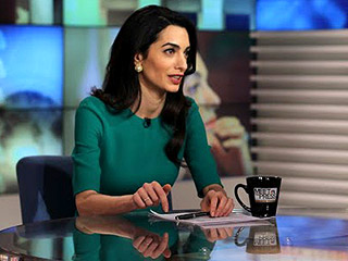 Amal Clooney Brushes Off Increased Risk of Personal Attacks Due to Her Celebrity: 'It's Not Something That's Worrying'