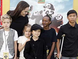 Angelina Jolie Brings Her Kids to the Kung Fu Panda 3 Premiere
