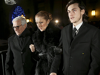 Céline Dion Clings to Her Son as She Leaves Open-Casket Visitation for Husband René Angélil