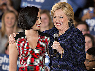 Demi Lovato 'Confident' About Hillary Clinton But Reports Say Bill and Chelsea Are Voicing Worries