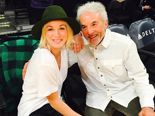 Kaley Cuoco Enjoys Laker Game Alongside Her Father
