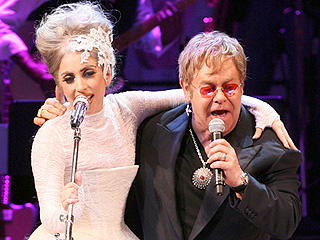 FROM EW: Elton John Collaborating with Lady Gaga on Her New Album