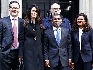 Amal Clooney Meets with U.K. Prime Minister David Cameron After Working to Free Imprisoned Former Maldivian President