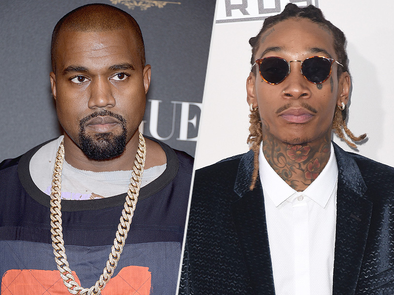Kanye West and Wiz Khalifa Spark Twitter Feud: 'You Let a Stripper Trap You,' Tweets West| Scandals & Feuds, Amber Rose, Kanye West, Kim Kardashian, Wiz Khalifa