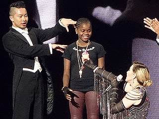 Madonna Brings Daughter Mercy James Onstage During Her Tour to Celebrate Her 10th Birthday
