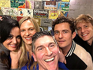 Katy Perry and Orlando Bloom Hang Out (Again!) Backstage at a Play