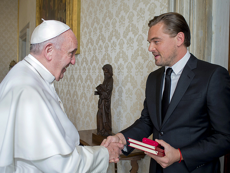 Leonardo DiCaprio Meets with Pope Francis to Discuss Climate Change| Good Deeds, Movie News, Leonardo DiCaprio, Pope Francis
