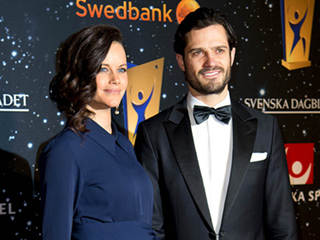 Princess Sofia and Prince Carl Philip of Sweden Make Glamorous Parents-to-Be at Royal Sports Gala