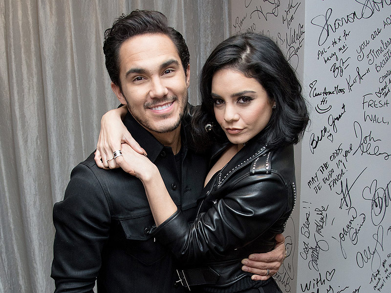 Carlos PenaVega Dishes About the Time He Accidentally Kissed Vanessa Hudgens ... on the Neck| Grease Live!, People Picks, TV News, Carlos Pena, Vanessa Hudgens