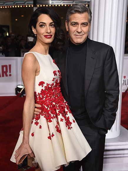 George and Amal Clooney Are Picture Perfect at Hail, Caesar! Premiere with Channing Tatum, Jonah Hill and Josh Brolin| Hail Caesar, Movie News, Amal Alamuddin, Channing Tatum, George Clooney