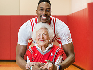 Hoop Dreams: Barbara Bush and Dwight Howard Adorably Team Up to Film Two Literacy PSAs
