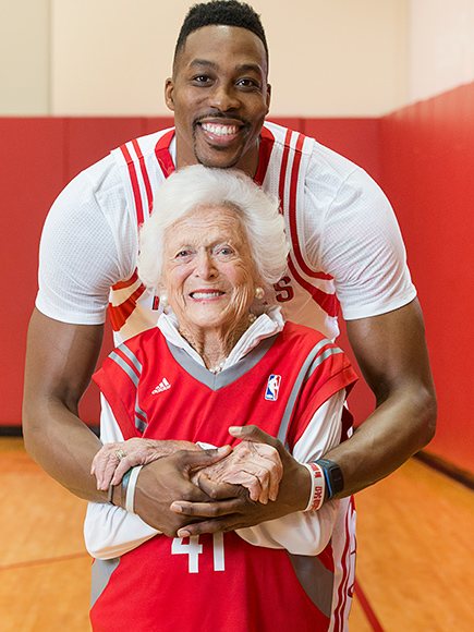 Barbara Bush and Dwight Howard Team Up to Film Two Literacy PSAs