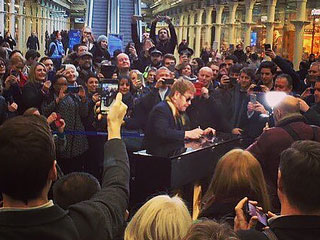 FROM EW: Watch Elton John Play a Surprise Concert in London Train Station
