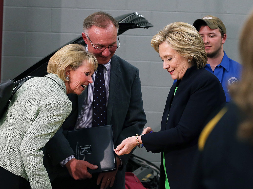 hillary clinton talks about her good luck charms from